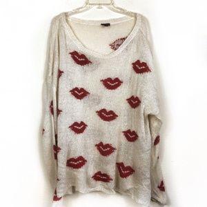 Torrid Knit Lipstick Sweater Size 5X